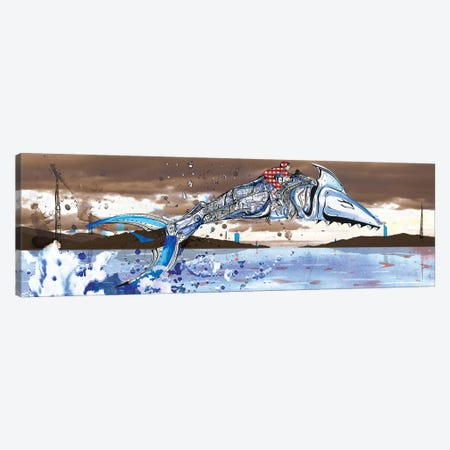 Shark Jockey Canvas Print #LEC28} by Lewis Campbell Canvas Art Print