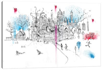 Soho London Canvas Art Print