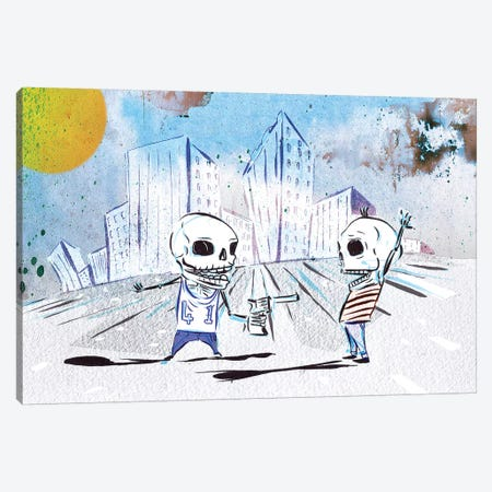 Sticks And Stones II Canvas Print #LEC33} by Lewis Campbell Canvas Artwork