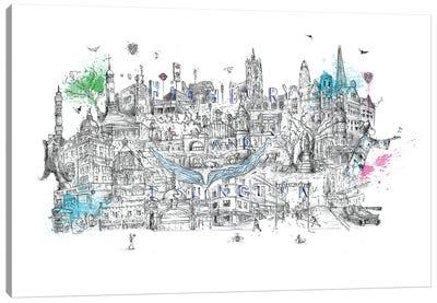 The Angel Of London Canvas Art Print