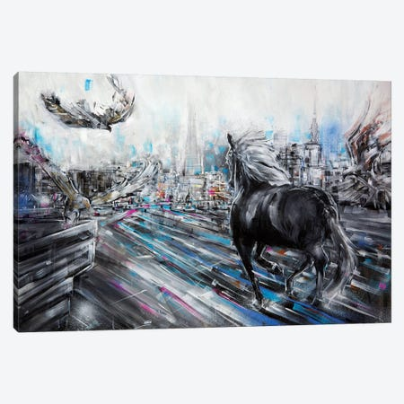 The Approach Canvas Print #LEC35} by Lewis Campbell Canvas Print