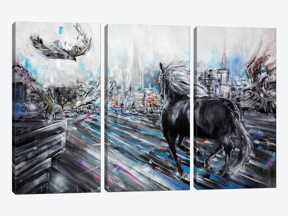 The Approach by Lewis Campbell 3-piece Canvas Wall Art