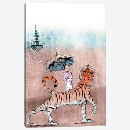 Tiger Lilly Canvas Print #LEC37} by Lewis Campbell Art Print