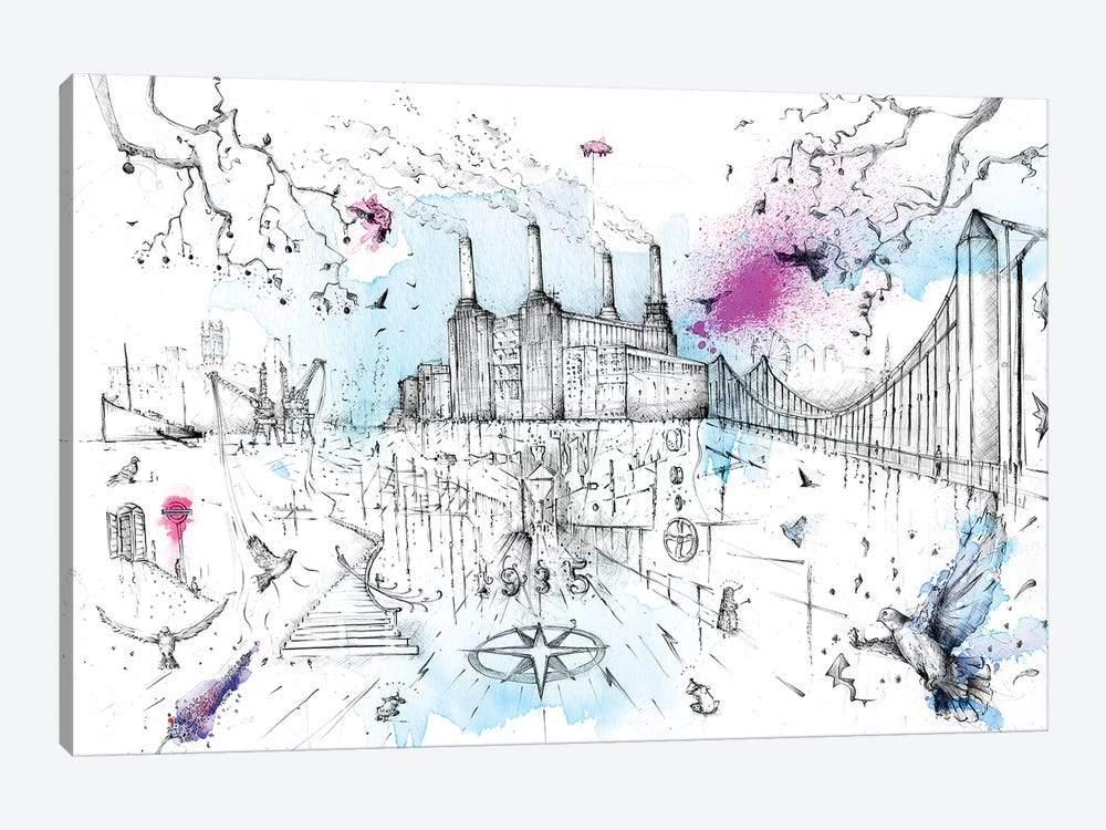 Battersea Power Station by Lewis Campbell 1-piece Canvas Art