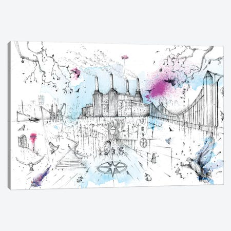 Battersea Power Station Canvas Print #LEC3} by Lewis Campbell Canvas Print