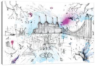 Battersea Power Station Canvas Art Print