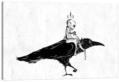 Black Rider Canvas Art Print