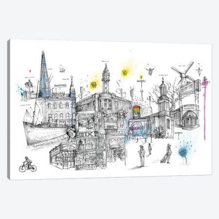 Brixton Vibes Canvas Print #LEC6} by Lewis Campbell Canvas Artwork
