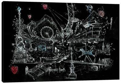 Fairy Tale Vibrant London Canvas Art Print