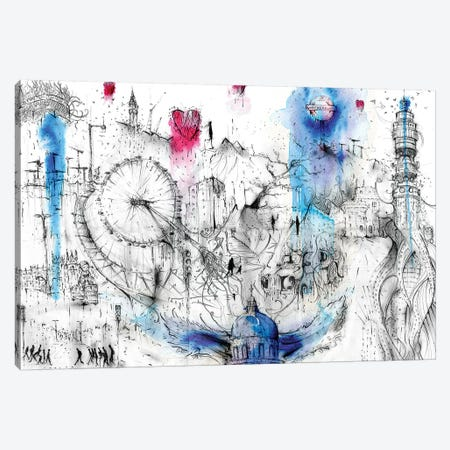 Fantasy London Canvas Print #LEC9} by Lewis Campbell Art Print