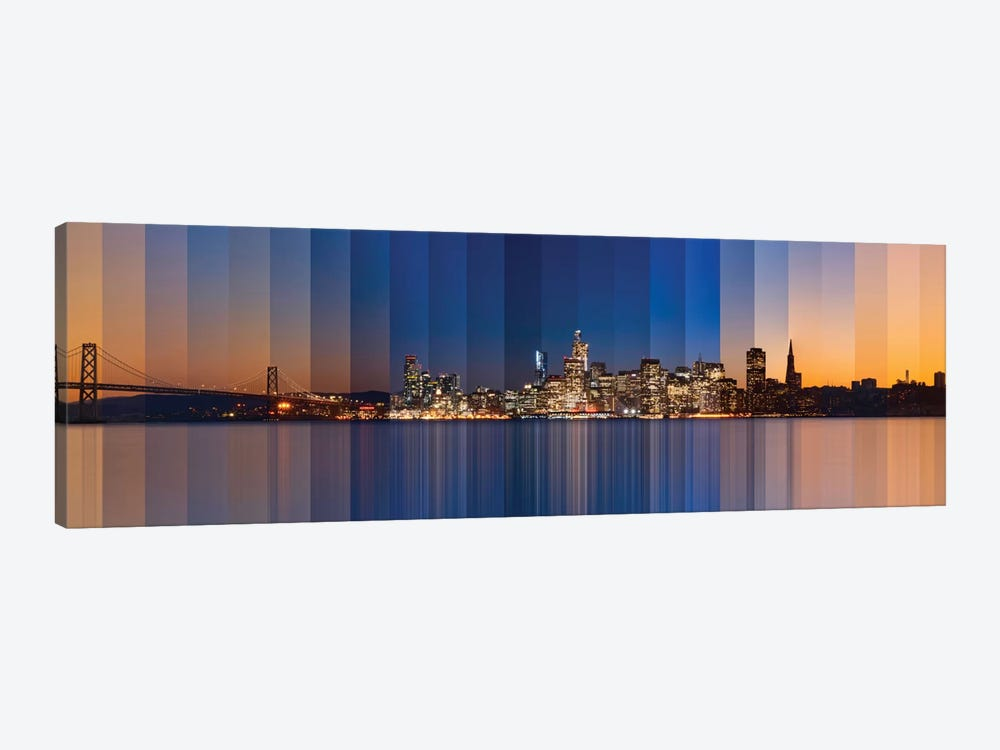 Chromatic Symphony Of San Francisco by Lee Sie 1-piece Canvas Wall Art