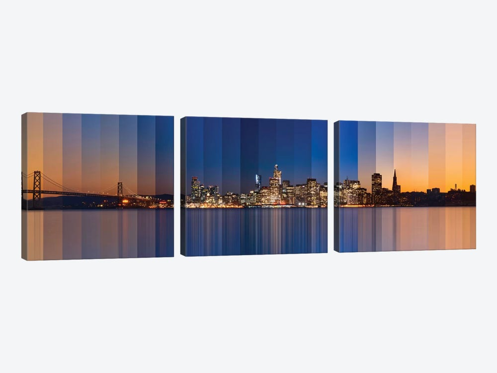Chromatic Symphony Of San Francisco by Lee Sie 3-piece Canvas Artwork