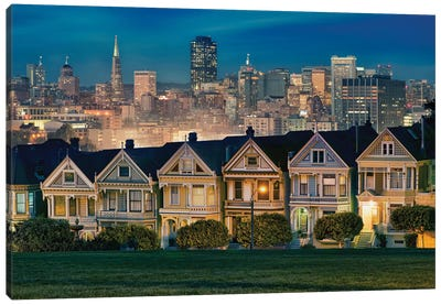 Painted Ladies Canvas Art Print