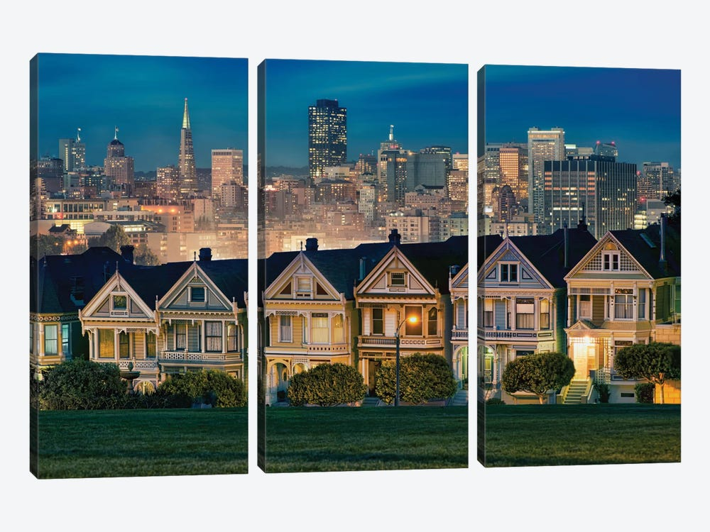 Painted Ladies by Lee Sie 3-piece Canvas Print