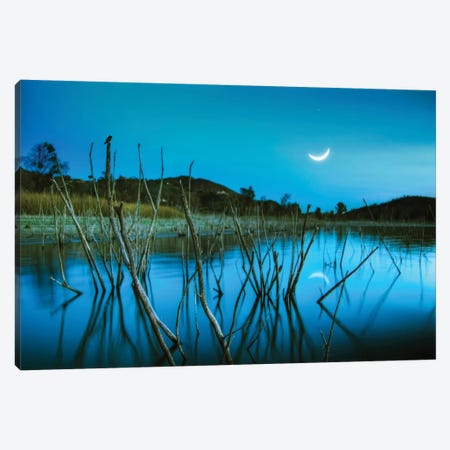 The Blue Lake Canvas Print #LEE8} by Lee Sie Art Print