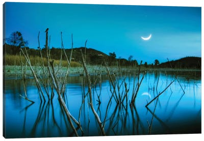 The Blue Lake Canvas Art Print