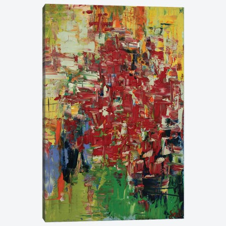 Shattered Red Lights 3-Piece Canvas #LEG43} by Shalimar Legaspi Art Print