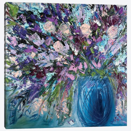 Silk Roses Canvas Print #LEG44} by Shalimar Legaspi Canvas Art