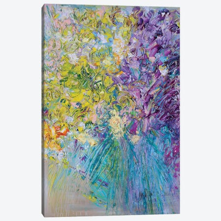 Welcome Home Flowers 3-Piece Canvas #LEG52} by Shalimar Legaspi Canvas Artwork
