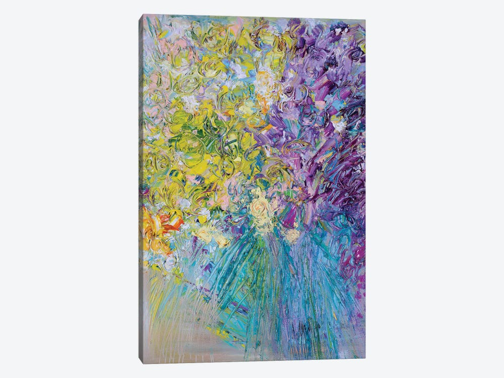 Welcome Home Flowers by Shalimar Legaspi 1-piece Canvas Artwork