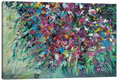 Wild Hearts Wildflowers Canvas Art Print
