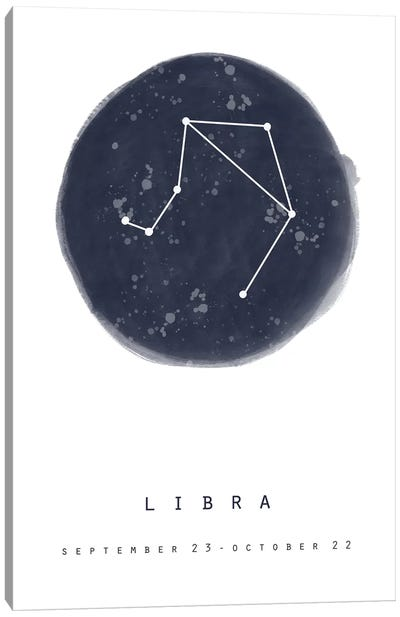 Libra Canvas Art Print
