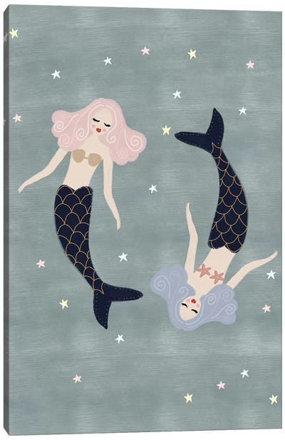 Light Mermaids Canvas Art Print