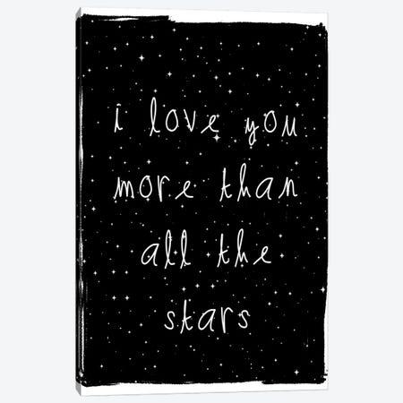 Love You More Canvas Print #LEH109} by Leah Straatsma Canvas Art