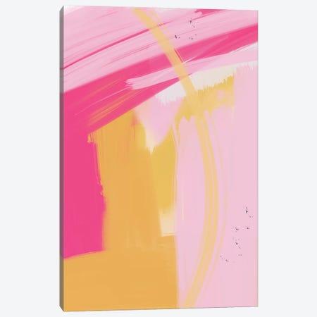 Pink and Yellow Abstract Canvas Print #LEH125} by Leah Straatsma Canvas Print