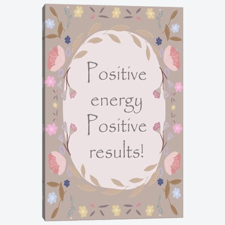 Positive Border Canvas Print #LEH128} by Leah Straatsma Canvas Wall Art