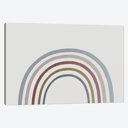 Rainbow Watercolor Canvas Print #LEH133} by Leah Straatsma Canvas Art Print