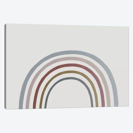 Rainbow Watercolor Canvas Print #LEH133} by Leah Straatsma Canvas Art Print
