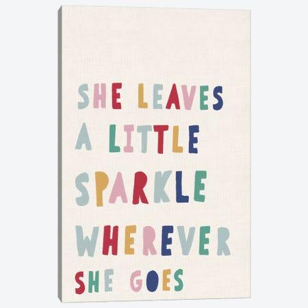 She Leaves a Little Sparkle 3-Piece Canvas #LEH139} by Leah Straatsma Art Print