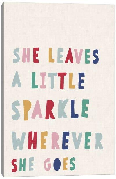 She Leaves a Little Sparkle Canvas Art Print
