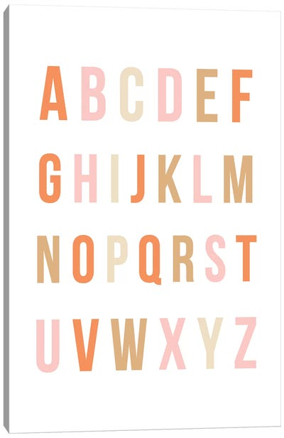 Sunset Rainbow Alphabet Canvas Art Print