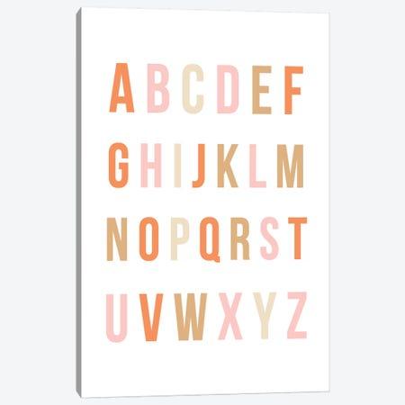 Sunset Rainbow Alphabet Canvas Print #LEH146} by Leah Straatsma Canvas Print