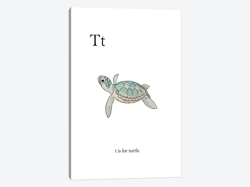 T is for Turtle by Leah Straatsma 1-piece Art Print
