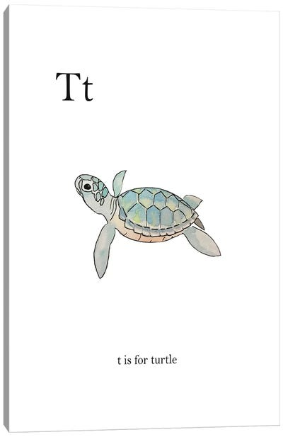 T is for Turtle Canvas Art Print