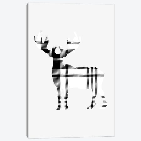 Tartan Deer Canvas Print #LEH149} by Leah Straatsma Canvas Artwork