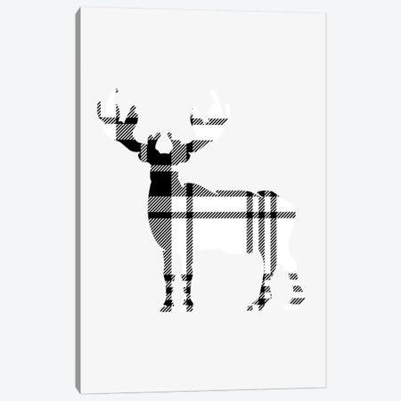 Tartan Deer Canvas Print #LEH149} by Leah Straatsma Canvas Artwork