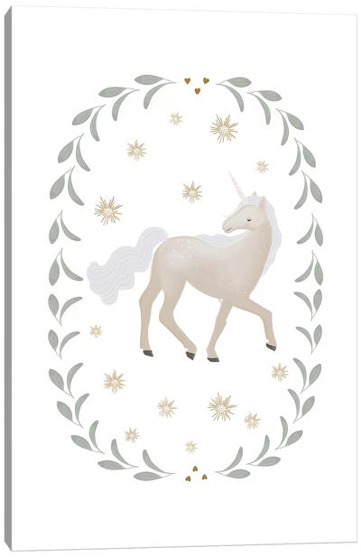 Unicorn Garland Canvas Art Print