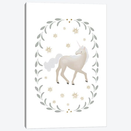 Unicorn Garland Canvas Print #LEH158} by Leah Straatsma Canvas Print
