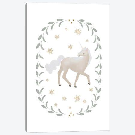Unicorn Garland Canvas Print #LEH158} by Leah Straatsma Canvas Print