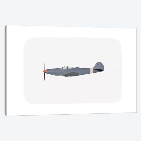 Vintage Plane I Canvas Print #LEH161} by Leah Straatsma Canvas Wall Art