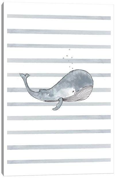 Whale Right Stripes I Canvas Art Print
