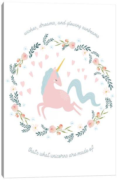 Wishes Dreams Unicorn Canvas Art Print