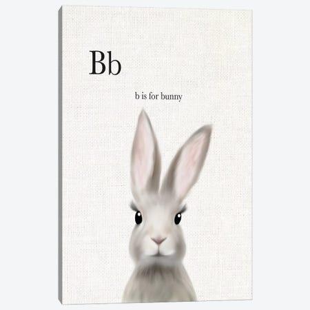 Woodland Bunny Linen Canvas Print #LEH178} by Leah Straatsma Canvas Art Print