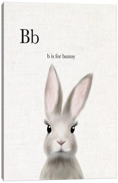 Woodland Bunny Linen Canvas Art Print