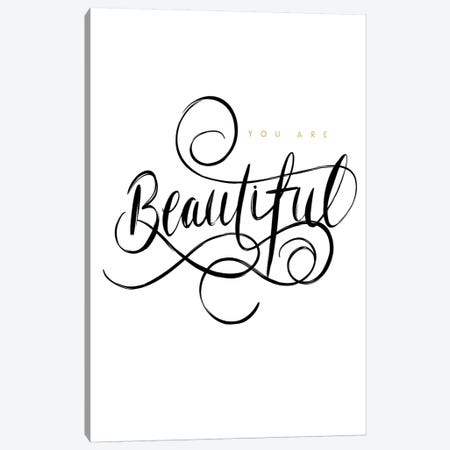 Your are Beautiful Canvas Print #LEH188} by Leah Straatsma Canvas Wall Art