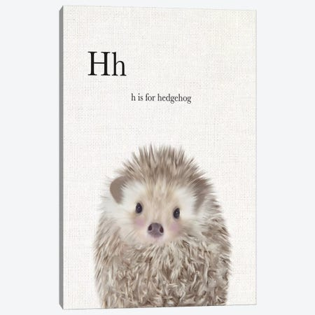 Baby Hedgehog Linen Canvas Print #LEH20} by Leah Straatsma Canvas Wall Art